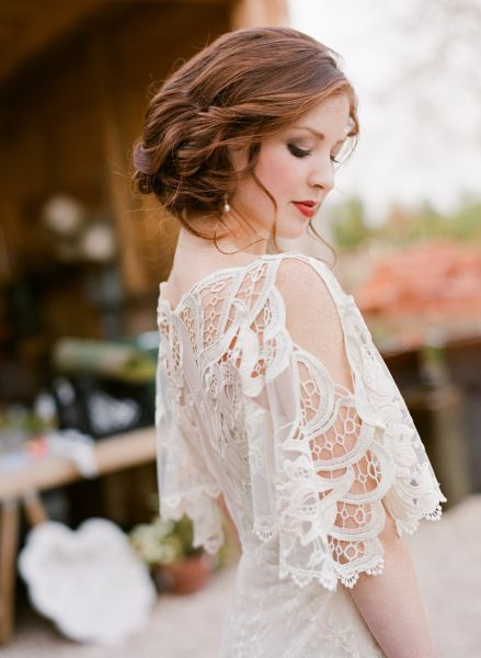 Recogido novia vestido palabra de honor